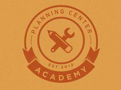 Planning Center Academy Branding by William Dos Santos Typography Logo, Logo Branding, Identity Design, Logo Design, Planning Center, Academy Logo, Circular Logo, Badge Logo, Cool Logo