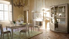 dining room, Traditional Dining Room Design Ideas With Formal Dining Sets Design With Green Fur Rug For Dining Room Interior Design Ideas With Dining Room Cabinet Design And Dining Room Furniture Ideas With Chandelier: Amazing Traditional Dining Room for Surprising Interior Design