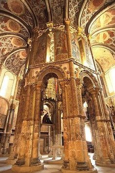 """Creative Travel Spot on """"Convent od the Order of Christ, Tomar, Portugal Sintra Portugal, Places In Portugal, Portugal Travel, Spain And Portugal, Visit Portugal, Gothic Architecture, Ancient Architecture, Beautiful Architecture, Places To Travel"""