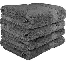 700 GSM Premium Towels Set 4 Pack - Cotton for Hotel & Spa Maximum Softness and Absorbency by Utopia Towels Bath Towels) (grey) Best Bath Towels, Spa Towels, Bath Towel Sets, Cotton Towels, Hand Towels, Bathroom Designs India, Pink Bathroom Decor, Chicago, Color