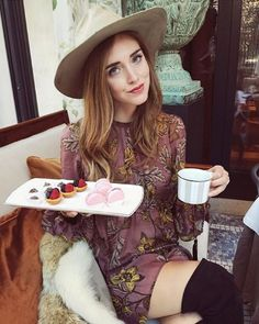 Afternoon treat with @chiaraferragni in the Santa Rosa Mini Dress.  #ForLoveAndLemons #Holiday15