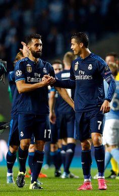 Álvaro Arbeloa & Cristiano Ronaldo.