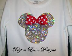Disney's Minnie Mouse Sequined Top / Size 12m6 by BradyLaine, $32.00