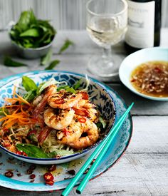 Grilled prawn and green mango salad (goi xoai) :: Gourmet Traveller Magazine Mobile