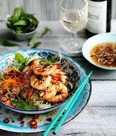 Vietnamese Grilled prawn and green mango salad (goi xoai)