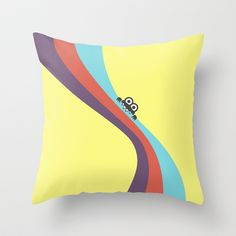 Funny Bug Bites Candy Colored Stripes Throw Pillow by Boriana Giormova - $20.00 #pillow #decor