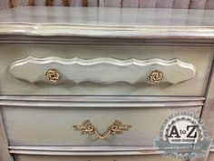 French Provincial Dresser Makeover by A to Z Custom Creations/Layers of General Finishes Milk Paint