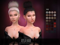 Ayla Hair Found in TSR Category 'Sims 4 Female Hairstyles'