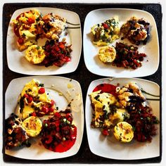mini frittata cups with mascarpone and prosciutto herb and cherry tomato omelettes southern hungry hippo hash blueberry cream cheese sticky buns Mini Frittata, Omelettes, Sticky Buns, Prosciutto, Cherry Tomatoes, Blueberry, Brunch, Southern, Cups