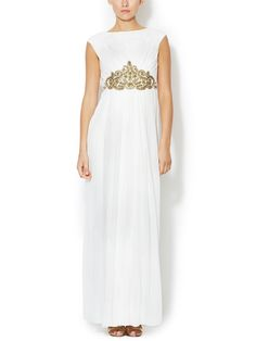 Silk Chiffon Embellished Waist Gown from Dress Shop: Special Occasion Dresses on Gilt