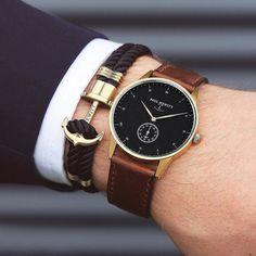 Gentlemens MUST HAVE! Signature Line watch & anchor bracelet from @paul_hewitt. #getAnchored #paulhewitt @paul_hewitt by highfashionmen