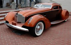 """""""The Myth"""" 1934 Packard Boattail Coupe with custom body fabricated in 500 ci with 3 Weber and GM AT. Designed by Strother MacMinn. Dream Cars, Vintage Cars, Antique Cars, Futuristic Cars, Sweet Cars, Amazing Cars, Fast Cars, Custom Cars, Concept Cars"""