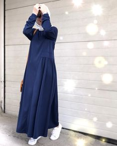 Image may contain: one or more people and standing peopleThe scarf is the most important portion while in the Hijab Style Dress, Casual Hijab Outfit, Dress Outfits, Hijab Elegante, Hijab Chic, Abaya Fashion, Modest Fashion, Fashion Dresses, Fashion Muslimah