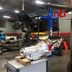 From: denton_racing - Now that\'s a Jeep power train  @mastmotorsports LSX 427 bolted to a fully built 6L90 transmission, after @whipplesuperchargers 2.9L is bolted on this monster will make around 800HP reliable power #dentonracing #dmmotorsports #builtnotbought #mastmotorsports #whipplesupercharger #power #boosted #lseverything #6speed #jeep #wrangler #jk #evosuspension #rondavisradiators -  More Info:https://www.instagram.com/p/BPDztLnhVoF/