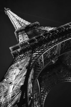 ❦ black and white eiffel tower by Dan Nash1