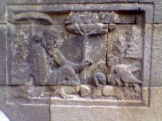 Relief animals stories and history about Buddhism temple of Mendut Frame Story, Buddha Temple, Mesoamerican, Ancient Mysteries, Sanskrit, Rock Art, Buddhism, Egyptian, Storytelling