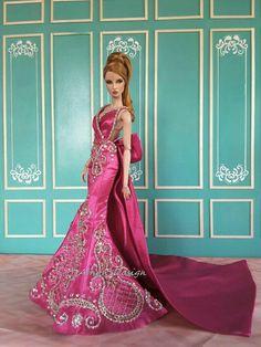 Barbie Gowns, Barbie Dress, Barbie Clothes, Fashion Royalty Dolls, Fashion Dolls, Fashion 101, Costume Collection, Barbie Collection, Barbie Sewing Patterns