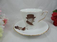English Teacup 1950s Vintage H&M English Bone by SecondWindShop