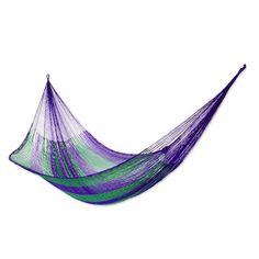 Hammock Spring Summer Garden Blue Cotton Canvas 280/x 100/Resistance Sleep Bed Rest