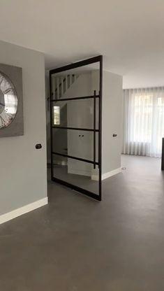 Door Design Interior, Home Room Design, Interior Design Living Room, Modern Interior, Living Room Designs, Grey Interior Doors, Diy Bedroom Decor, Home Decor, House Rooms