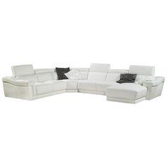 Bellini Modern Living Berton Leather Sectional Berton-Sectional