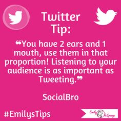 #EmilysTips #EmilysMarketingTips #EmilysTwitterTips #TwitterTips #Twitter