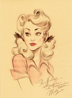 Character design and concept development - Pin up art of Maly Siri