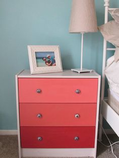 It's ombre and it's cheap. A DIY IKEA hack worth your time and money! http://www.ivillage.com/diy-ikea-rast-hacks/7-a-538699