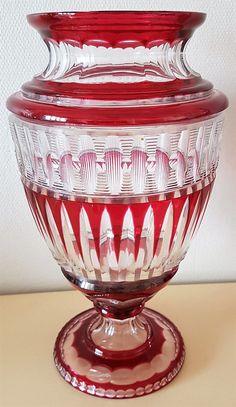 Val St Lambert Vase Antinéa - 1920-1925. H 36 cm.
