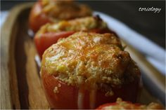 Toriology.com  ~Baked Tomatoes with Quinoa and Corn