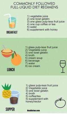 full liquid diet-menufoods and diet plan infographic2 #detoxdiet