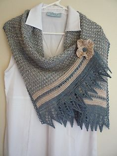 Free Pattern: The Rectangular Crow Waltz Shawl by Juju Vail.