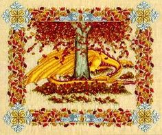 Seasonal Dragons - Autumn Cross Stitch Pattern (03-2950) Embroidery Patterns by Patricia Ann Designs