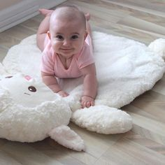 """Mary Meyer Toys """"Bless this Baby"""" Lamb Baby Mat"""