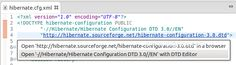 [Eclipse] Using local DTD files (demo with Hibernate xml files) Open S, Being Used