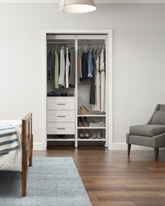 Liberty Home, White Closet, Closet Rod, Front Closet, Boys Closet, Master Closet, Closet Doors, Build A Closet, Closet System