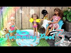 How to Make a Doll Swimming Pool 3: Doll Floaties | Doll Fire Pit - Doll Crafts - YouTube
