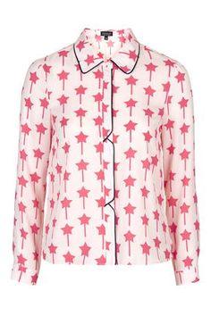 Star Print Shirt - New In- Topshop