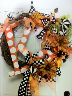 Fall Holiday Monogram Wreath