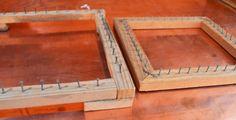 Vintage Handmade Wooden Pot Holder Looms - Set of 2