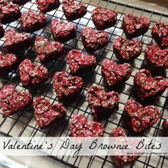 Valentine's Day Brownie Bites - #ValentinesDay #dessert