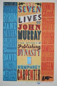 Jonny Hannah: The Seven Lives of John Murray. Original screenprint published by the Cakes & Ale Press (2009)