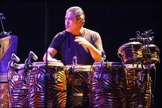 Raul Rekow, conguero de la banda de Carlos Santana