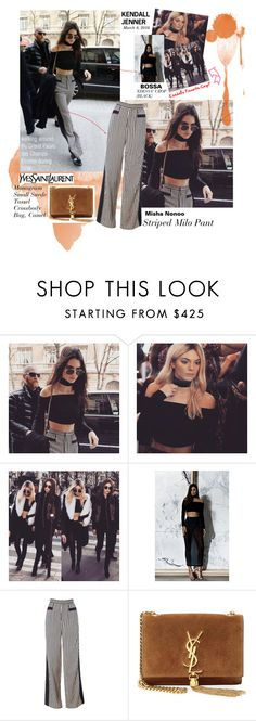 """Kendall Jenner visits the Grand Palais des Champs- Élysées"" by ayonna-smith ❤ liked on Polyvore featuring Yves Saint Laurent"