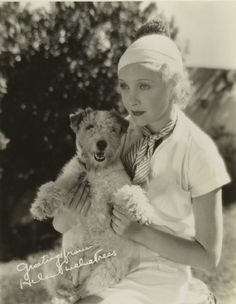 0 Helen Twelvetrees with a fox terrier