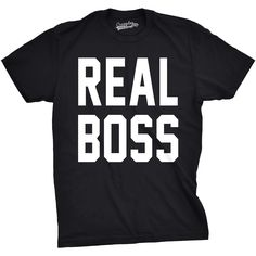 Real Boss Youth Funny Kids T-shirt Cool Girls Family Tee Gift
