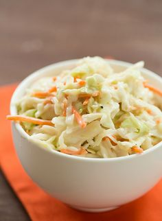 Basic Creamy Coleslaw Dressing | browneyedbaker.com #recipe