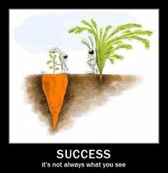 Success...it's not always what you see.