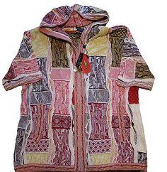 NEW-Geccu-Austrailian-Womens-Multi-Colored-Coogi-Look-Zip-Cotton-Jacket-PLUS