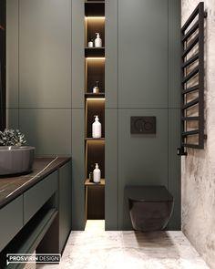 WARM • Дизайн ванной. Ванная комната. Интерьер ванной. Bathroom. Санузел. Дизайн санузла • Дизайн и визуализация: PROSVIRIN DESIGN Washroom Design, Bathroom Design Luxury, Bathroom Layout, Modern Bathroom Design, Modern Toilet Design, Modern Luxury Bathroom, Home Room Design, Home Interior Design, Wc Design